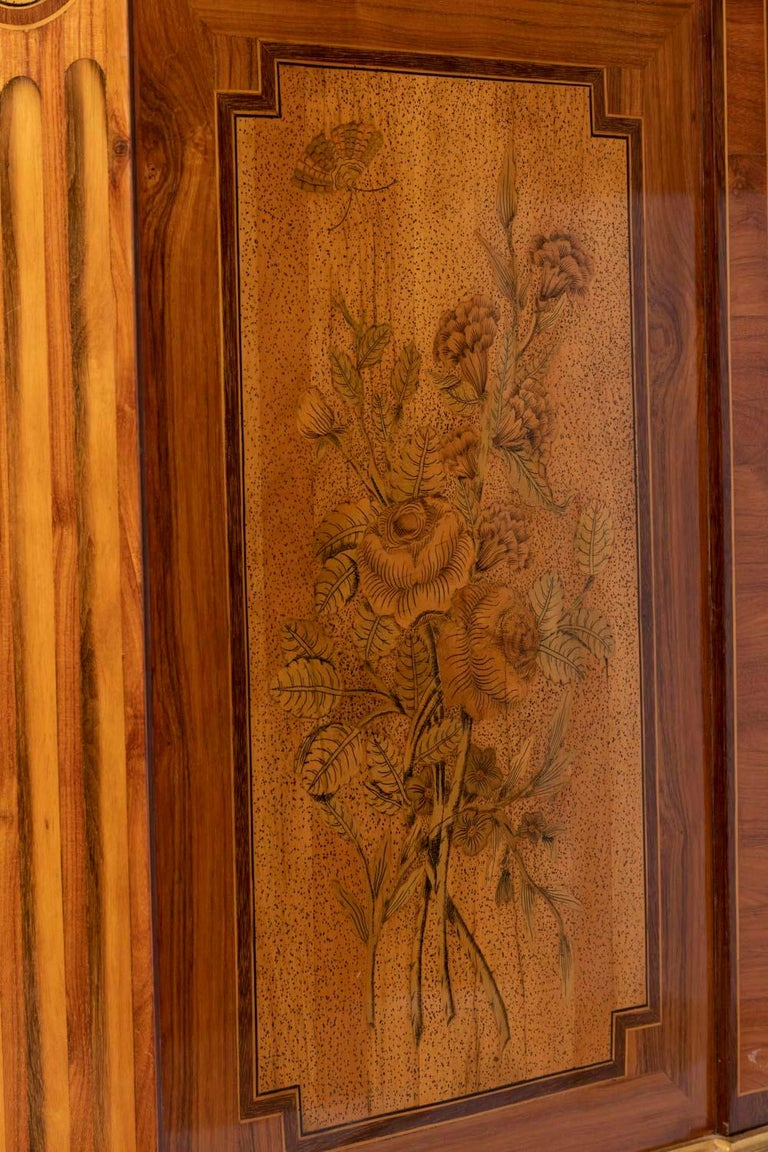 Desk in Flower Marquetry, Louis XVI Period, Stamped C. Topino, 18th Century For Sale 11