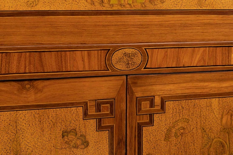 Desk in Flower Marquetry, Louis XVI Period, Stamped C. Topino, 18th Century In Good Condition For Sale In Saint Ouen, FR
