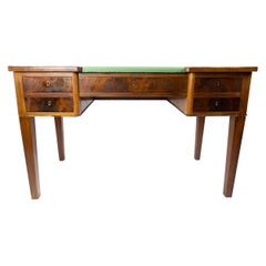 Desk in Mahogany with Green Felt Top, and in Great Antique Condition, 1890s