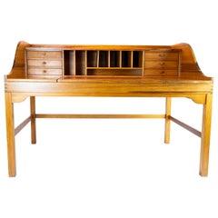 Desk in Oregon Pine by Andreas Hansen and Hadsten Wood Industry, 1960s