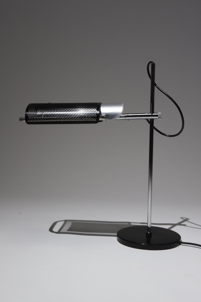Extraordinary articulating desk lamp by George Nelson and Daniel Lewis for Koch & Lowy.