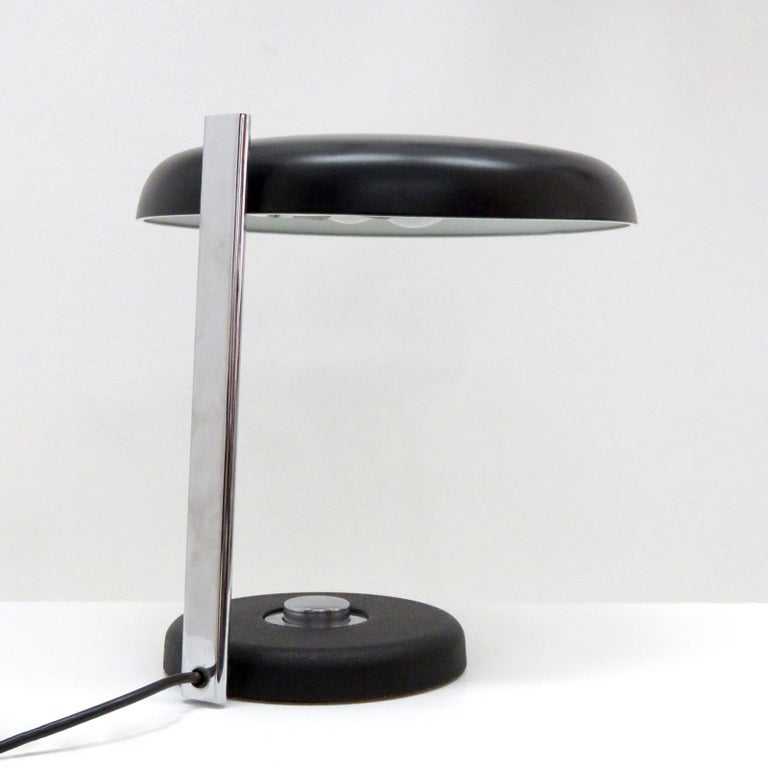 Plated Desk Lamp 'Oslo' by Heinz Pfänder for Hillebrand, 1962 For Sale