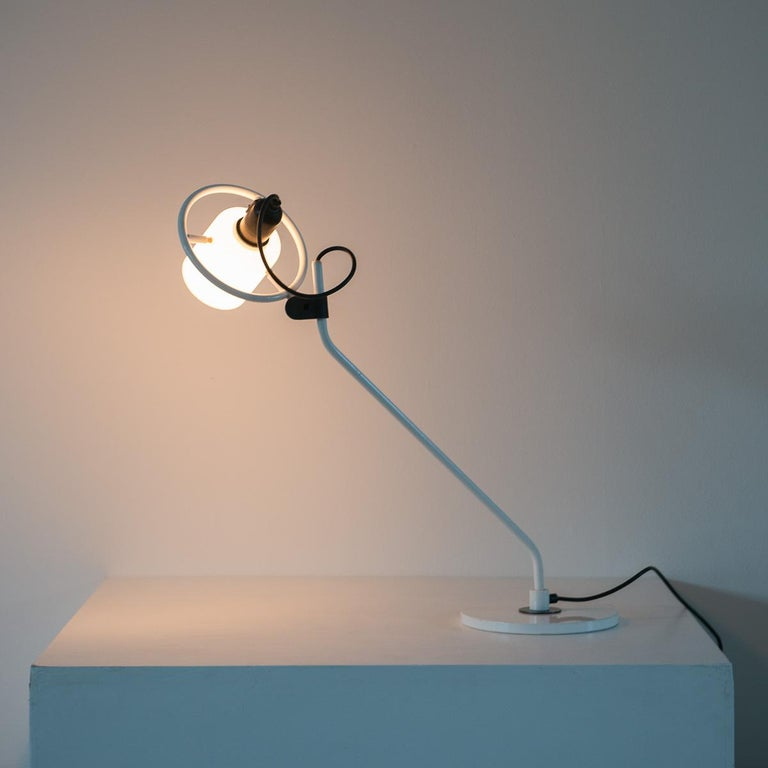 Desk Lamp with Milk Glass Hood For Sale 3