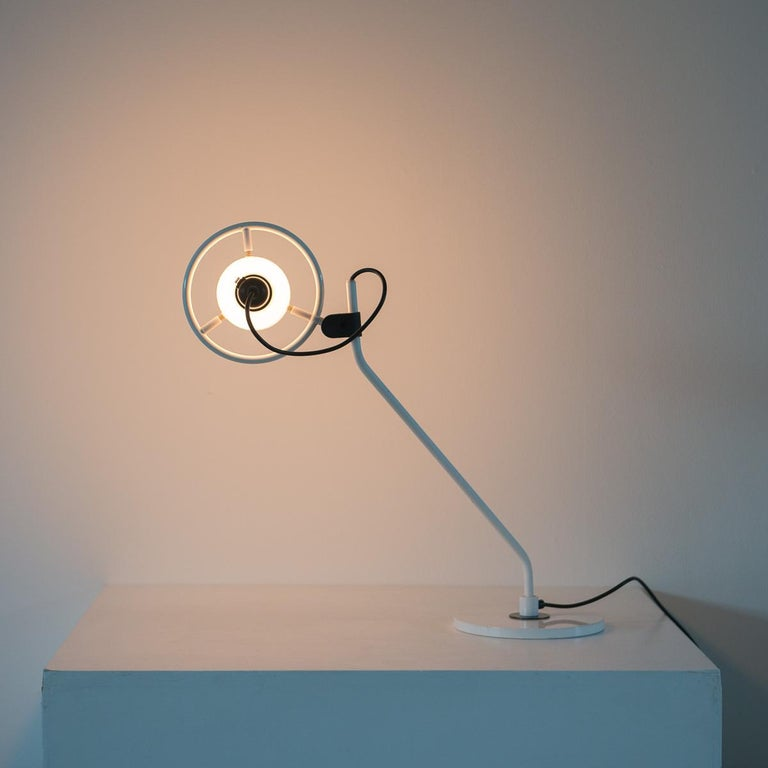 Desk Lamp with Milk Glass Hood For Sale 4