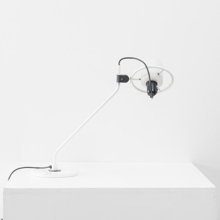 Desk Lamp with Milk Glass Hood For Sale 2