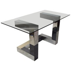 Desk or Console in Cityscape Style, circa 1970