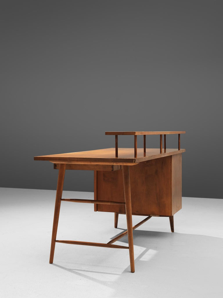 Desk Paul McCobb Desk in Maple, 1950s In Good Condition For Sale In Waalwijk, NL