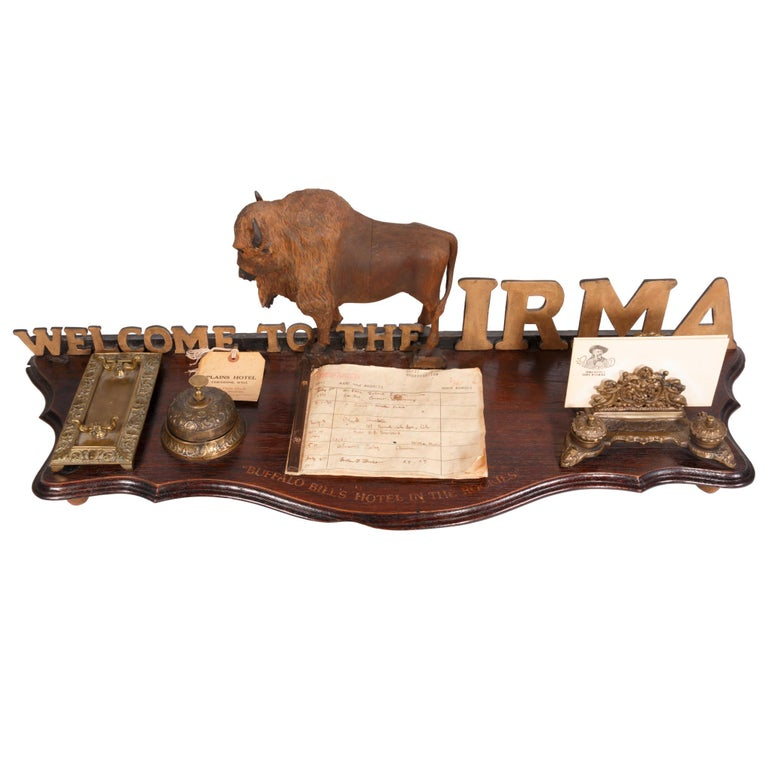 Desk Register from Buffalo Bill's Hotel in the Rockies For Sale
