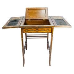 Desk, Secretaire, Moorish Inlays