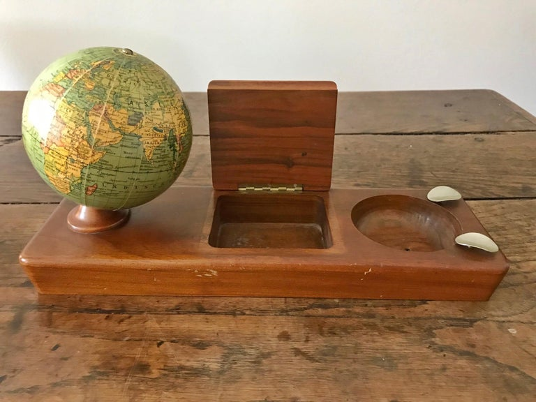 Other Desk Set with a Columbus Globe by Paul Oestergaard, circa 1950 For Sale