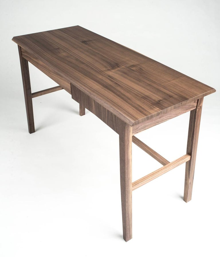 Desk, Walnut, Modern, Storage, Hardwood, Customizable, Semigood  For Sale 4