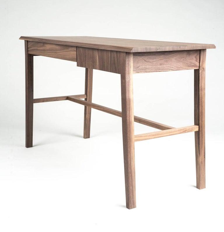 American Desk, Walnut, Modern, Storage, Hardwood, Customizable, Semigood  For Sale