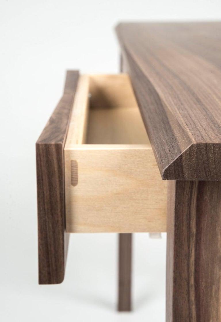 Desk, Walnut, Modern, Storage, Hardwood, Customizable, Semigood  For Sale 1