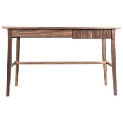 Desk, Walnut, Modern, Storage, Hardwood, Customizable, Semigood
