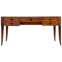 Desk with 5 Drawers by Paolo Buffa Executed by Galdino Maspero, 1930s