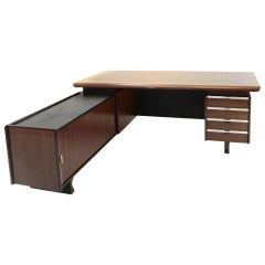 Desk with Built-In Drawer Unit and Sideboard by Anonima Castelli, 1960s