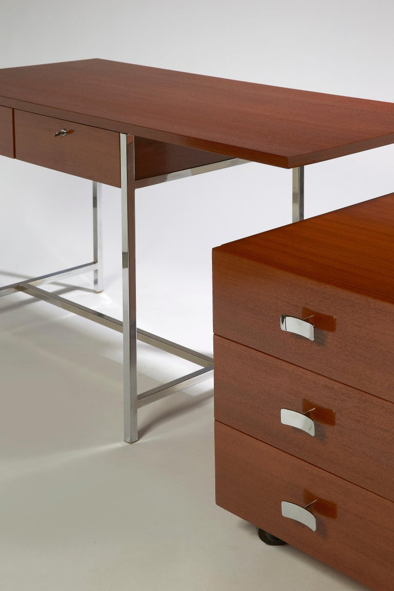 Modern Desk with His Drawers by Antoine Philippon & Jacqueline Lecoq For Sale