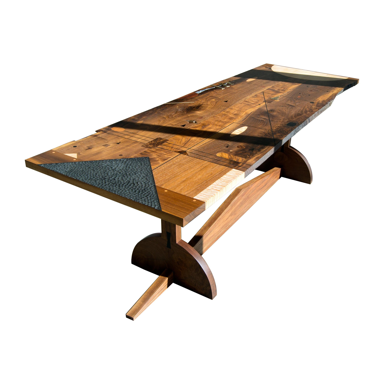Desk with Inlays and Exquisite Sculptural Detailing, Poet's Desk