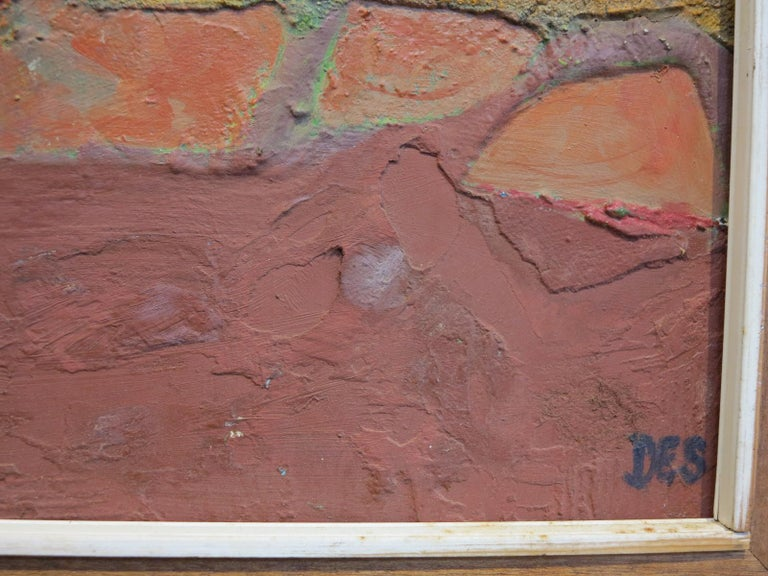 Surrealist Landscape - Brown Abstract Painting by Desmond McLean