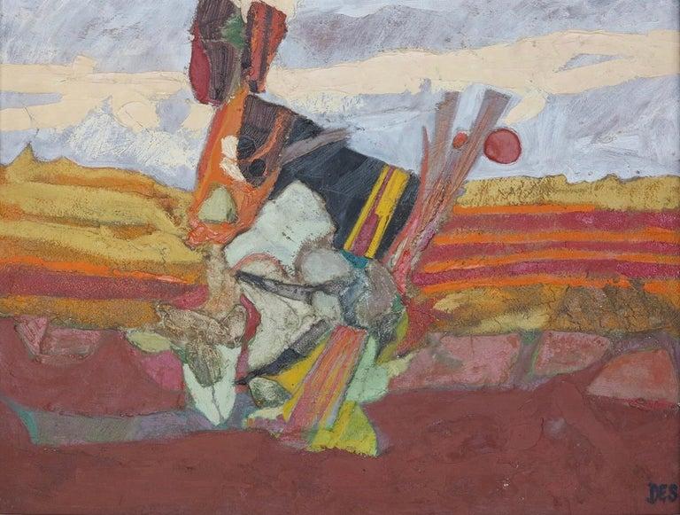 Desmond McLean Abstract Painting - Surrealist Landscape