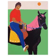 'Desmond's Arrival' Portrait Painting by Alan Fears Pop Art Horse