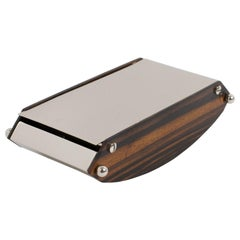 Desny Style French Art Deco Box Macassar Wood and Chrome