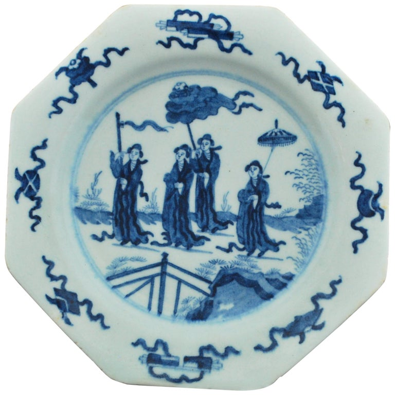 Dessert Plate, Bow Porcelain Factory, circa 1756 For Sale