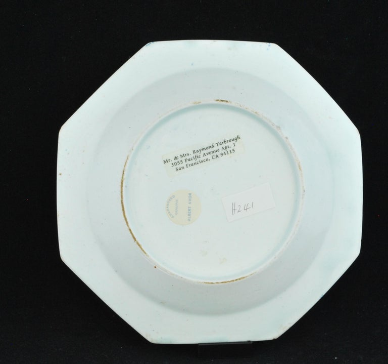 English Dessert Plate, Bow Porcelain Factory, circa 1759 For Sale