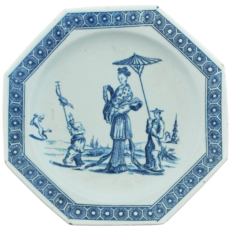Dessert Plate, Bow Porcelain Factory, circa 1759 For Sale