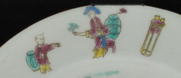 English Dessert Plate, Bow Porcelain Factory, circa 1760 For Sale