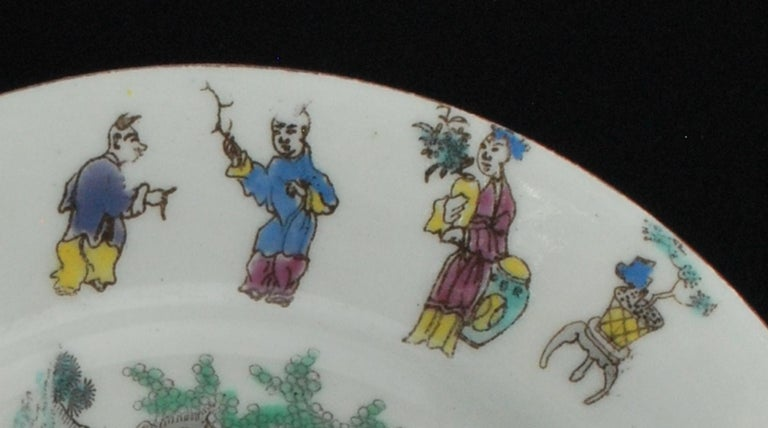 Molded Dessert Plate, Bow Porcelain Factory, circa 1760 For Sale