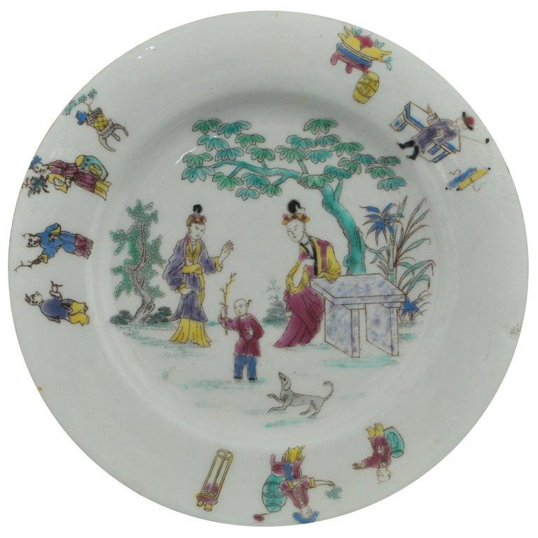 Dessert Plate, Bow Porcelain Factory, circa 1760 For Sale