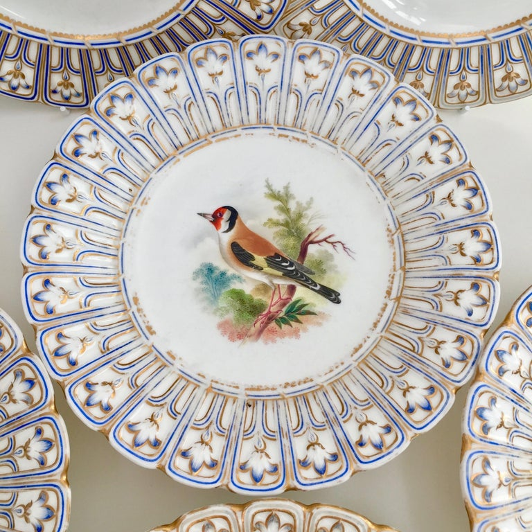 Minton Porcelain Dessert Service, Named Birds by Joseph Smith, Victorian 1851 For Sale 4