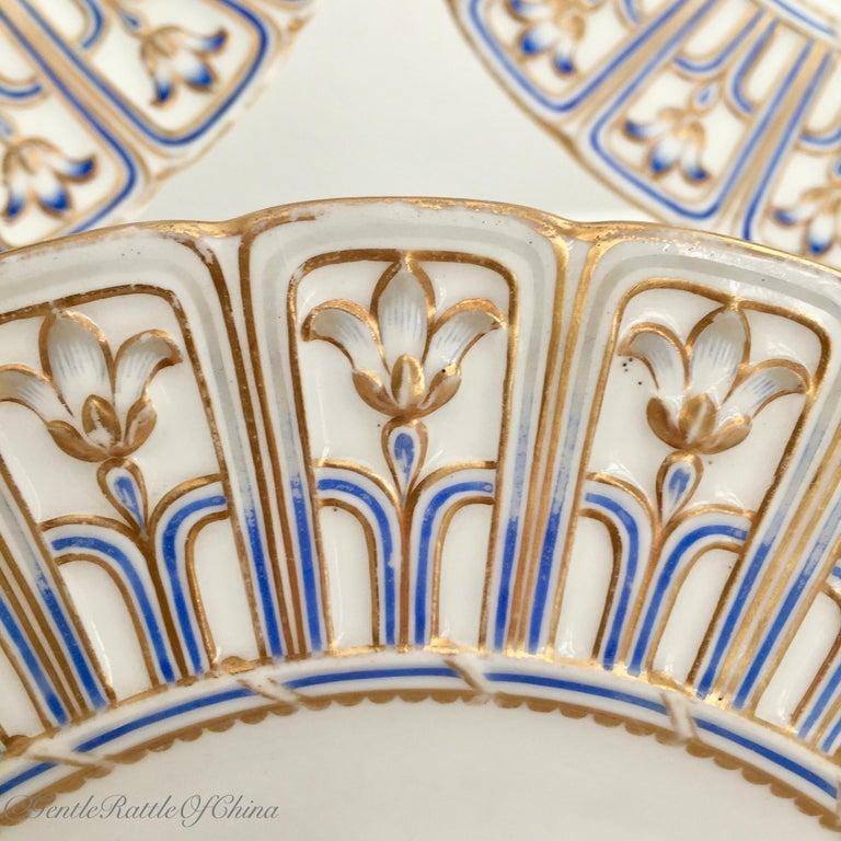 Minton Porcelain Dessert Service, Named Birds by Joseph Smith, Victorian 1851 For Sale 12