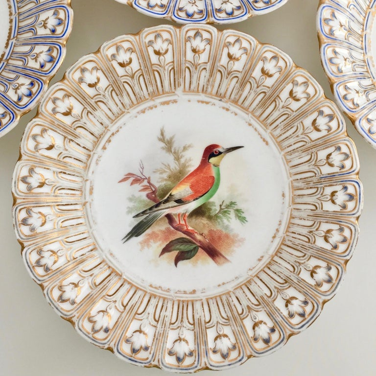 Minton Porcelain Dessert Service, Named Birds by Joseph Smith, Victorian 1851 In Good Condition For Sale In London, GB