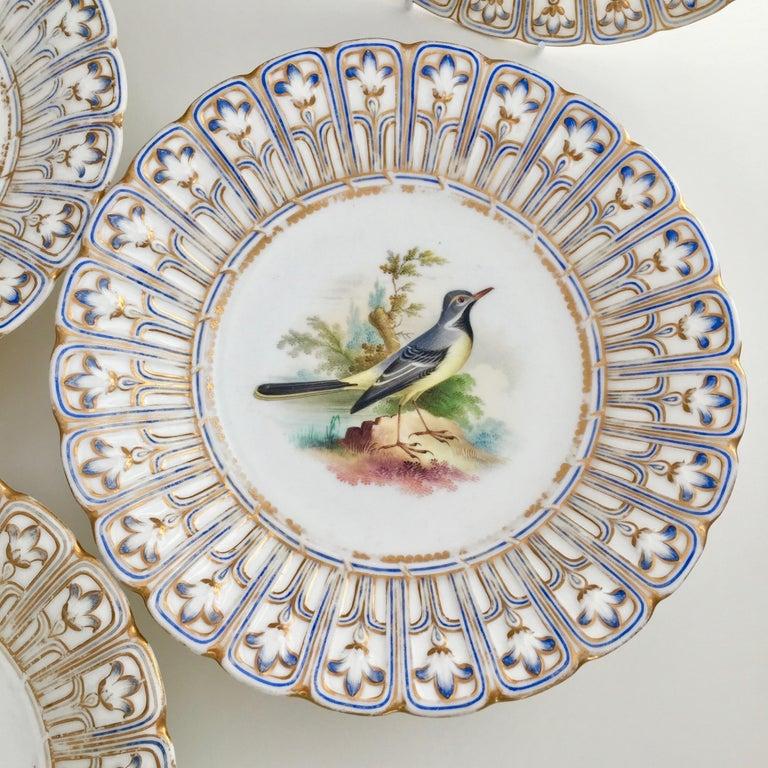 Minton Porcelain Dessert Service, Named Birds by Joseph Smith, Victorian 1851 For Sale 2