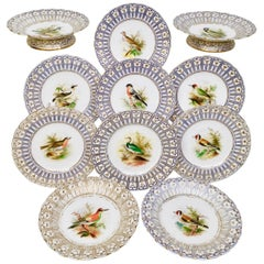 Dessert Service, Named Birds by Joseph Smith, Minton, 1851