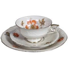 Dessert Set, Cup and Saucer and Plate, Eschenbach Bavaria Porzellan