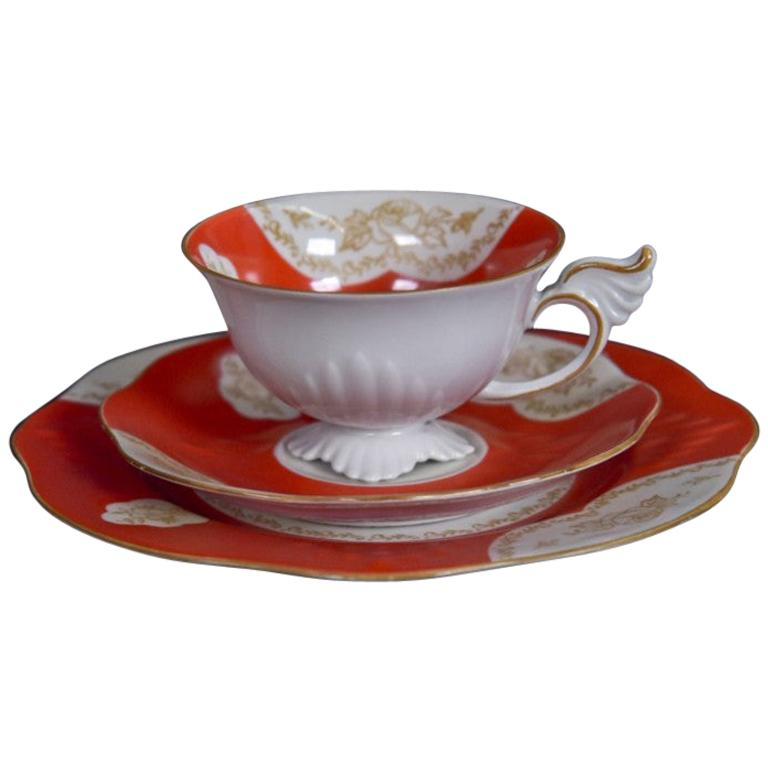 Dessert Set, Cup and Saucer and Plate, Tillowitz Epos