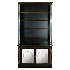 Dessin Fournir Ebonized Bookcase with Gilt Detail