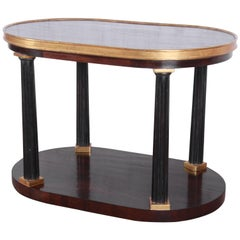 Dessin Fournir Neoclassical Oval Two-Tiered Occasional Table