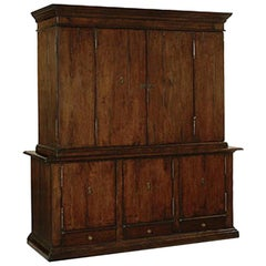 Dessin Fournir Signed Large Two Part Wood Ricci Cabinet