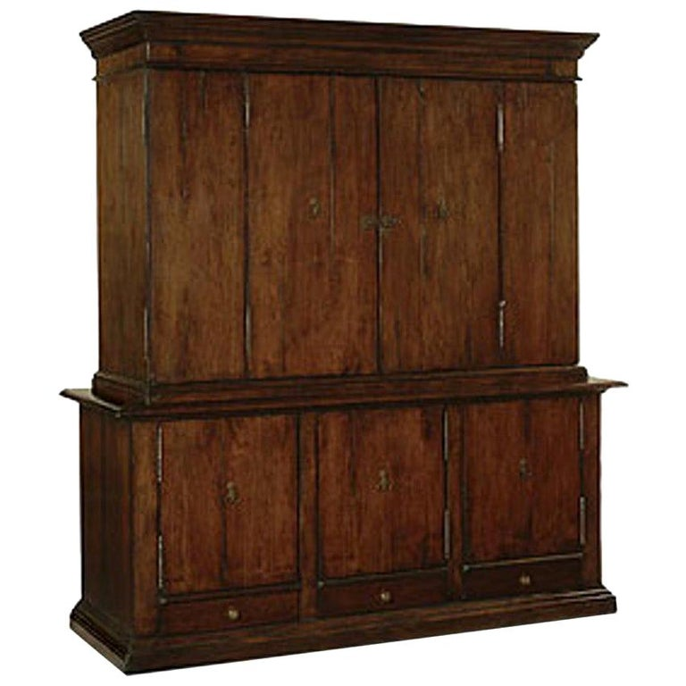Dessin Fournir Signed Exceptionally Large Two Part Wood Ricci Cabinet For Sale
