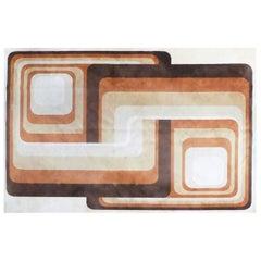 Desso Rug in Geometric Pattern Wool, 1970