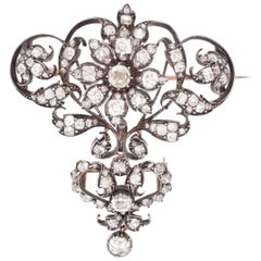 Detachable Victorian Diamond Brooch/Pendant, 1860s