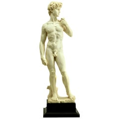 Detailed and Stylized Roman Statue of the 'David' Sculpted by G Ruggeri