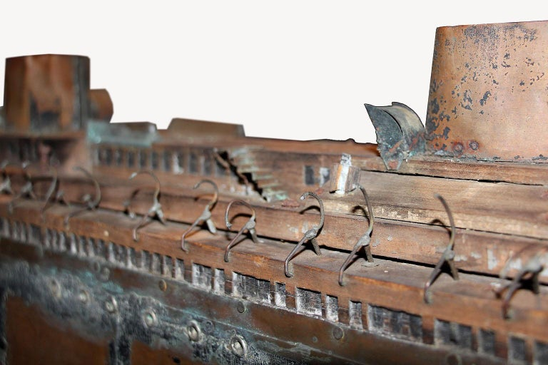 Detailed Antique Copper Ship Model For Sale 7