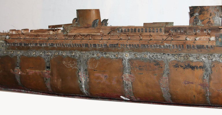 Detailed Antique Copper Ship Model For Sale 3