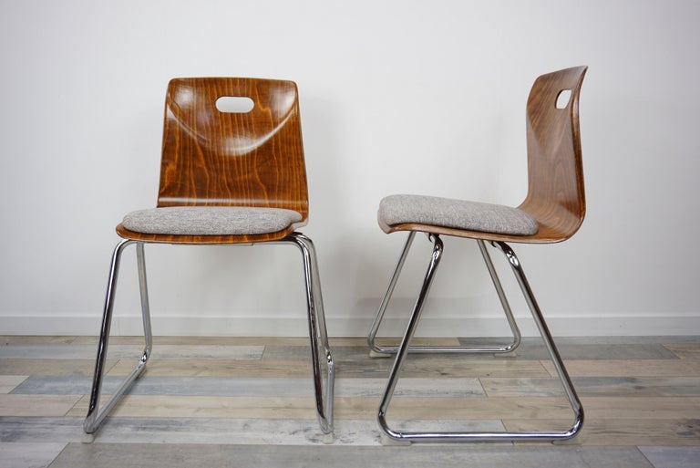 1960s Pagwood Pagholz Design Set of Six Chairs 4