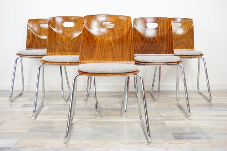 1960s Pagwood Pagholz Design Set of Six Chairs 13